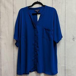 Roamans Blue Blouse Size 22 Wide